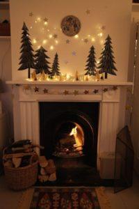 décoration de la cheminée