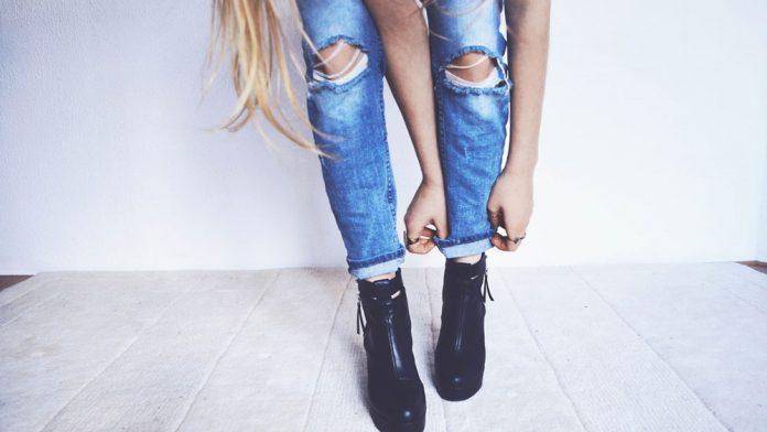 femme-jean-chaussures