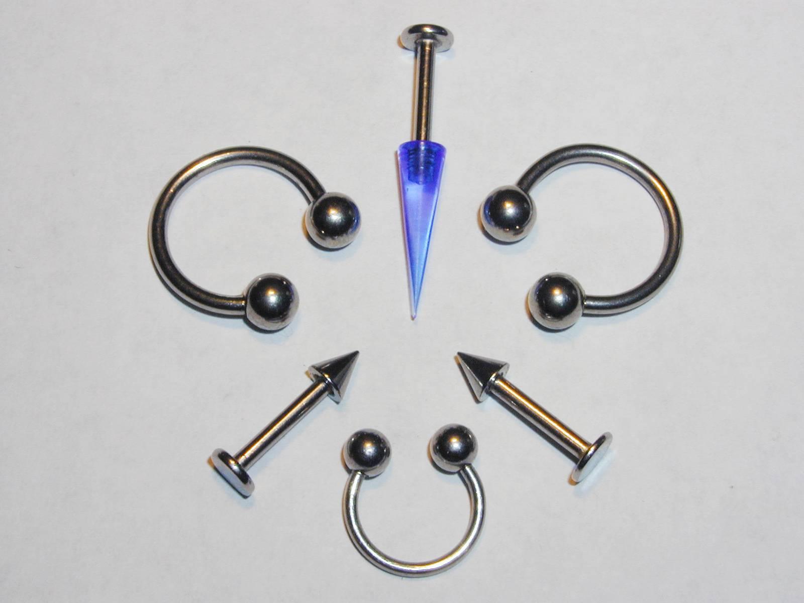 Tailles bijou piercing tragus